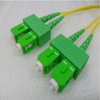 Single Mode Angled Duplex SCA SCA (APC) OS2 8.3/125um Fibre Optic Patch Cord