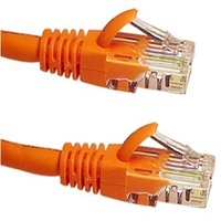 Cat6 RJ45 Patch Cord Orange 0.25m