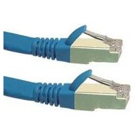 Cat6a 10G STP FTP Shielded Patch Cord Blue