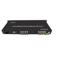 HD CVI TVI Audio 1080P 16 Channel Fibre Converter Single Mode 20KM