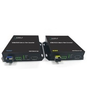 HDMI 1080P + RS232 to 3Gbps Fiber Converter LC SM MM 0.55K-10KM