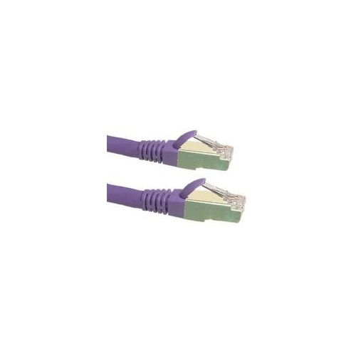 Cat6a 10G STP FTP Shielded Patch Cord Purple