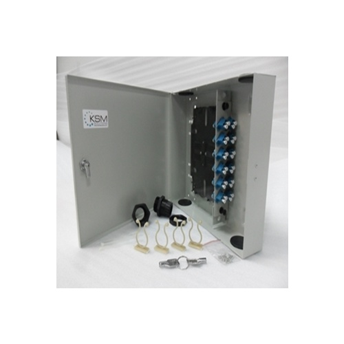 Fibre Wall Mount Unit 24 Port LC Quad OS2 Single Mode
