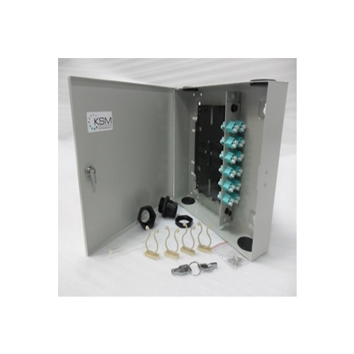 Fibre Wall Mount Unit 24 Port LC Quad OM4 Multimode