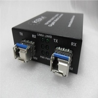 LC 1.25G SFP 1310nm/1550nm 0.55K to 40K Bidirection Single Mode to Multimode Fibre Wavelength Converter