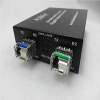LC 1.25G SFP 1550nm/1310nm 0.55K to 40K Bidirection Single Mode to Multimode Fibre Wavelength Converter