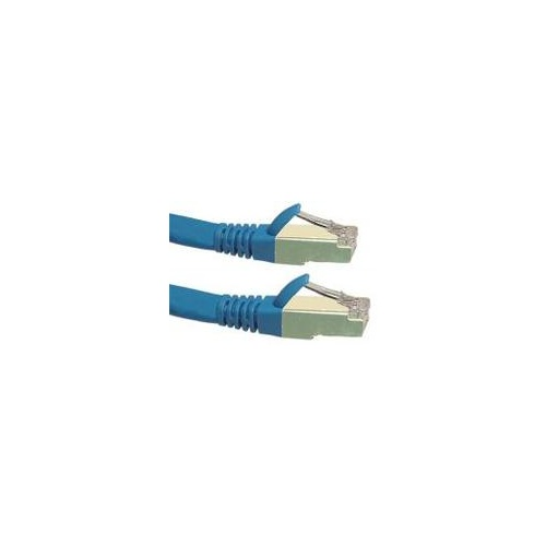 Cat6a 10G STP FTP Shielded Patch Cord Blue 0.3m