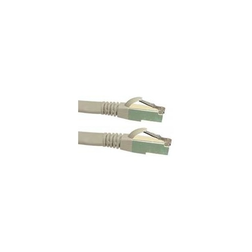 Cat6a 10G STP FTP Shielded Patch Cord Grey 0.3m